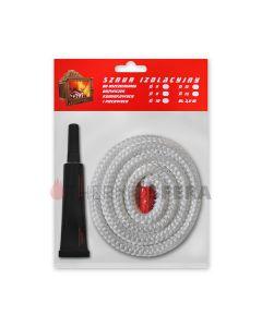 Zestaw naprawczy (biały okrągły sznur 500°C + klej termiczny)