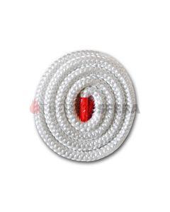 Szklany okrągły sznur 500°C na metry (biały)