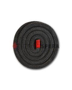Szklany okrągły sznur 500°C na metry (czarny)